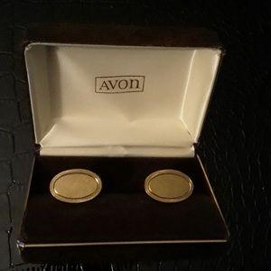 Avon Brushed Goldtone Cufflinks in Original Case